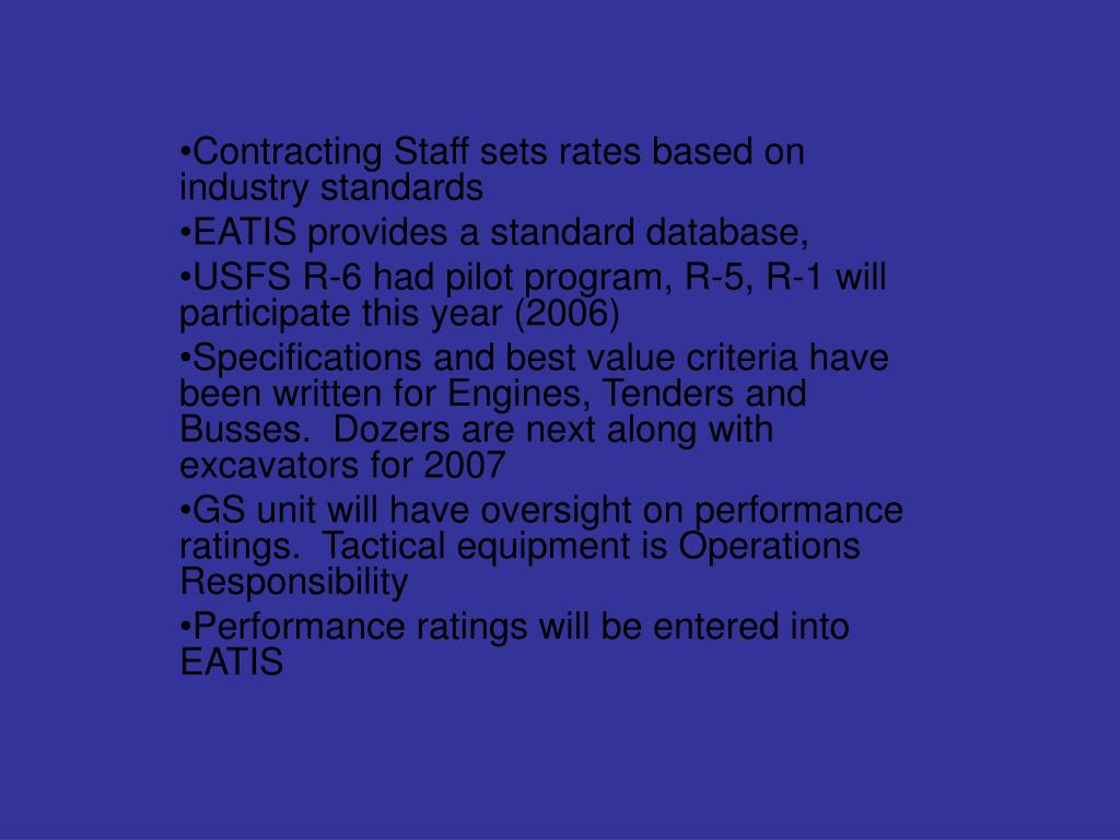 Contracting Staff sets rates based on industry standards