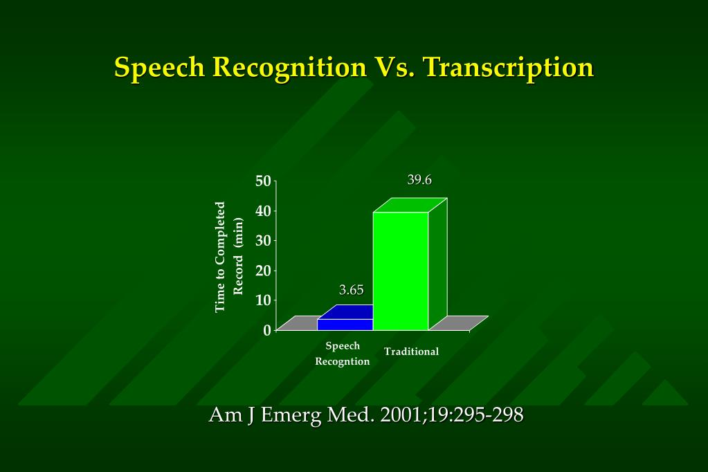 Speech Recognition Vs. Transcription