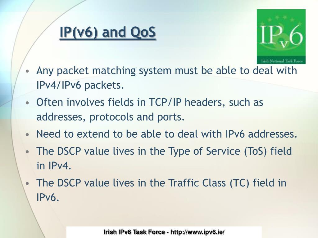 IP(v6) and QoS
