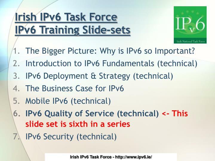 Irish ipv6 task force ipv6 training slide sets