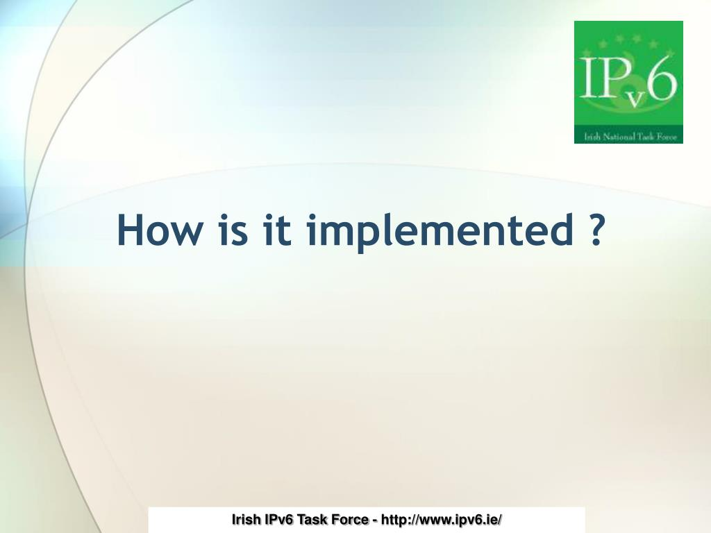 How is it implemented ?