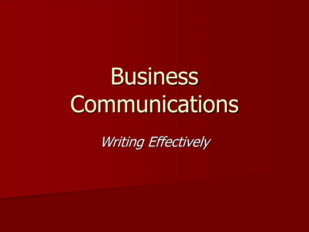 business communications l.
