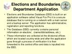 elections and boundaries department application