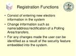 registration functions