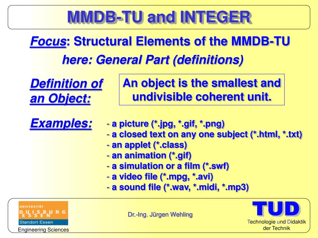 MMDB-TU and INTEGER