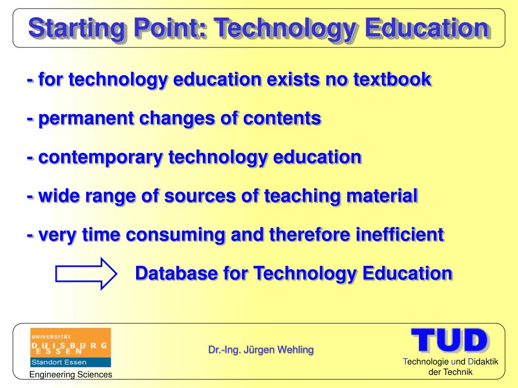 Starting Point: Technology Education