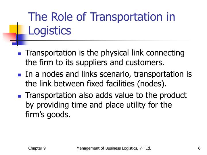 The Role of Transportation in Logistics