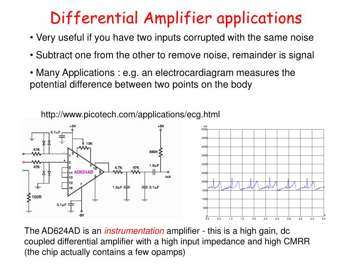 Differential Amplifier applications