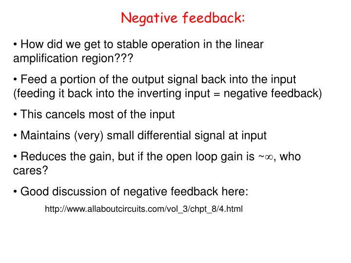Negative feedback: