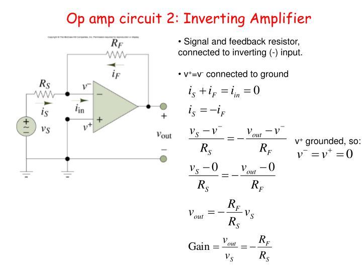 Op amp circuit 2: Inverting Amplifier