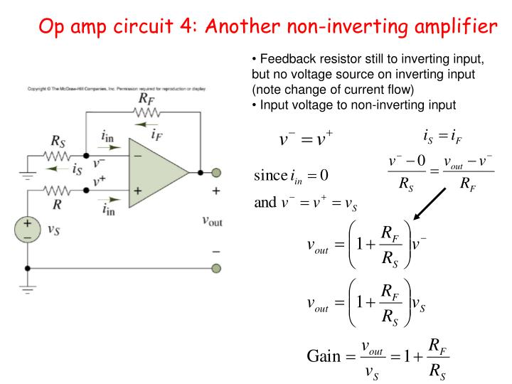 Op amp circuit 4: Another non-inverting amplifier