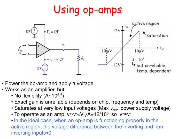Using op-amps