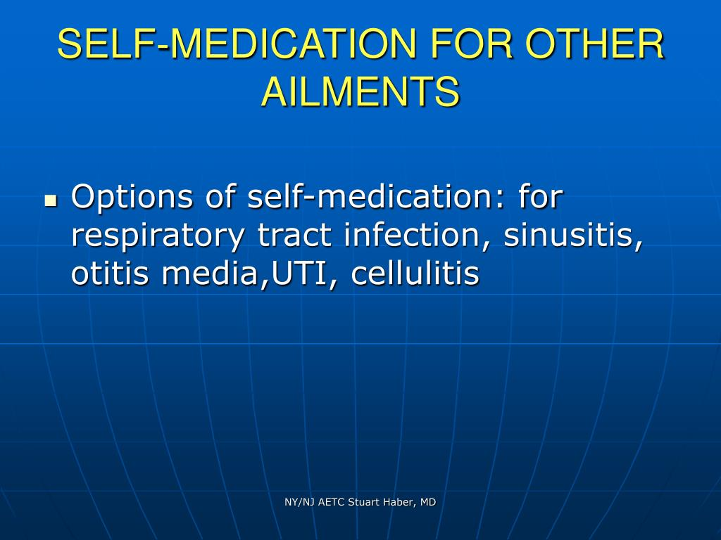 SELF-MEDICATION FOR OTHER AILMENTS