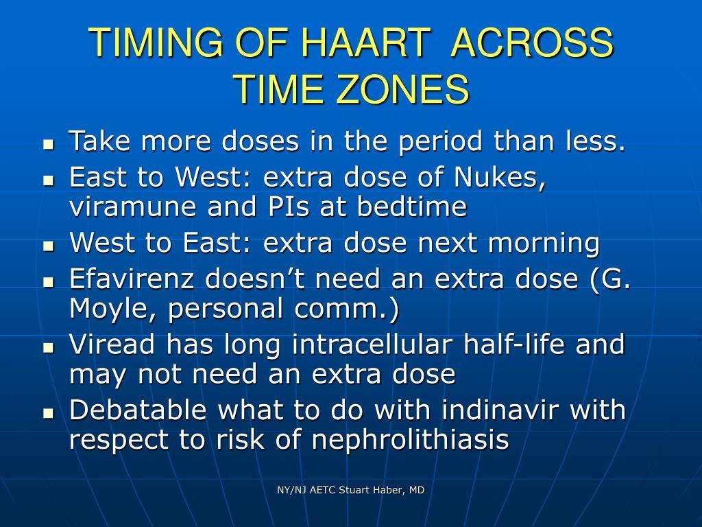 TIMING OF HAART  ACROSS TIME ZONES