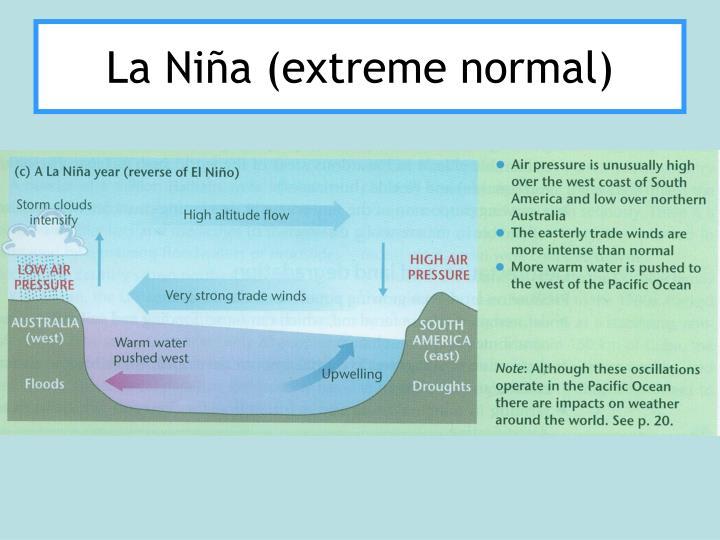 La Niña (extreme normal)