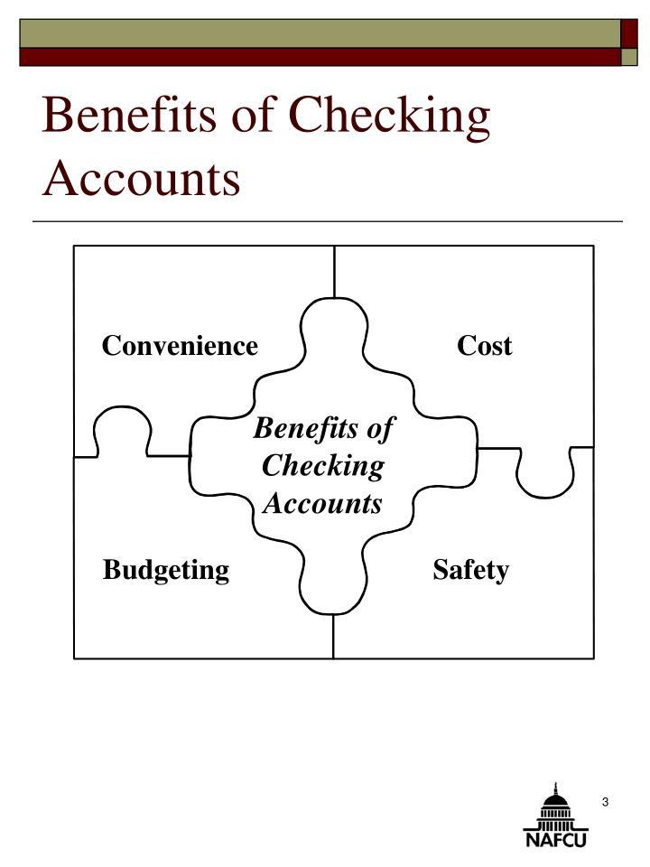Benefits of checking accounts