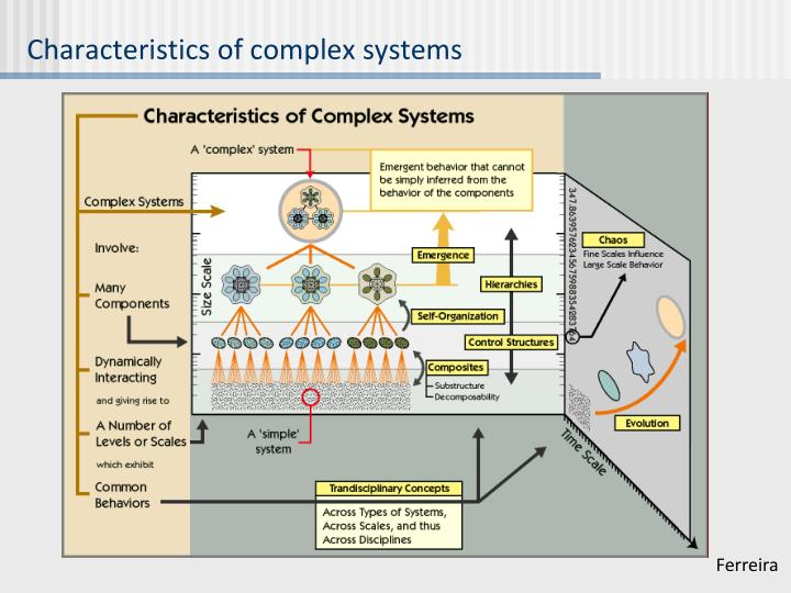 Characteristics of complex systems