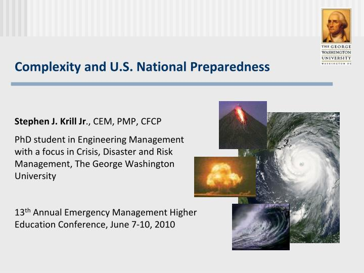 complexity and u s national preparedness n.