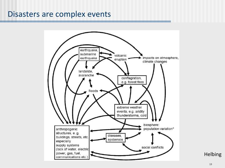 Disasters are complex events