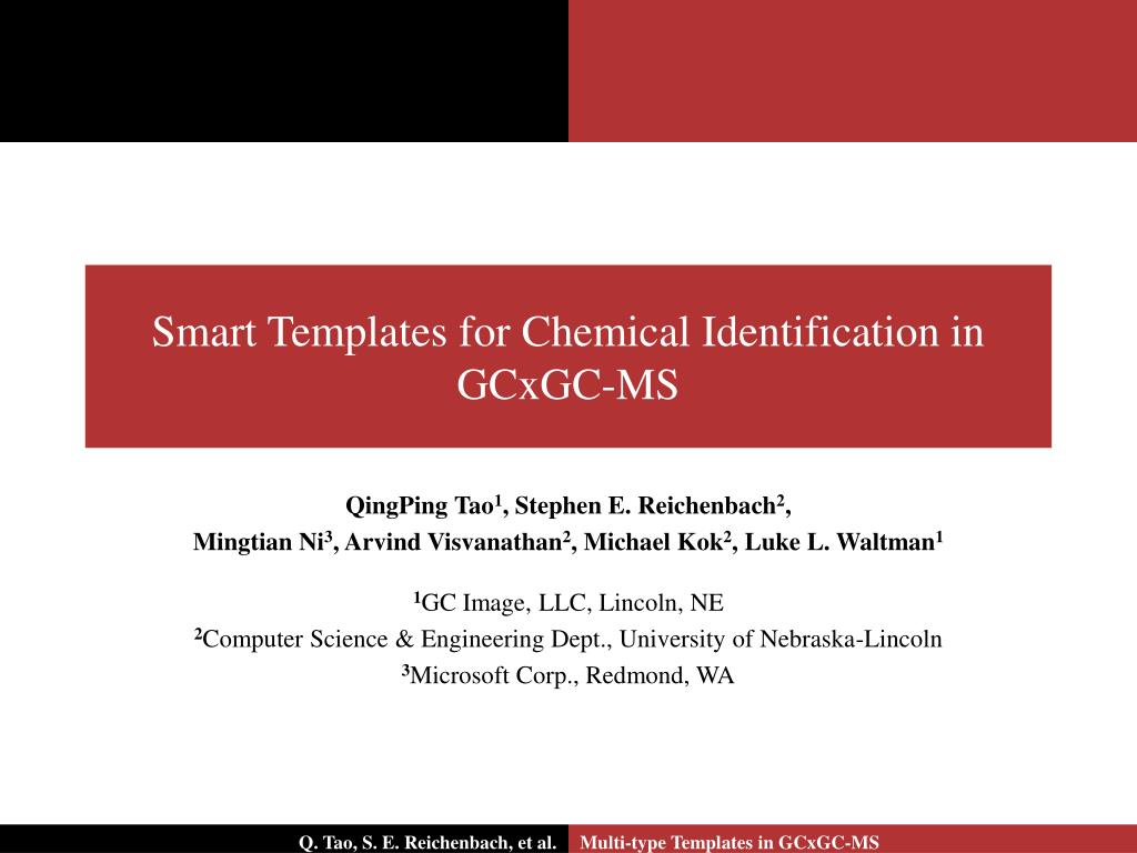 smart templates for chemical identification in gcxgc ms