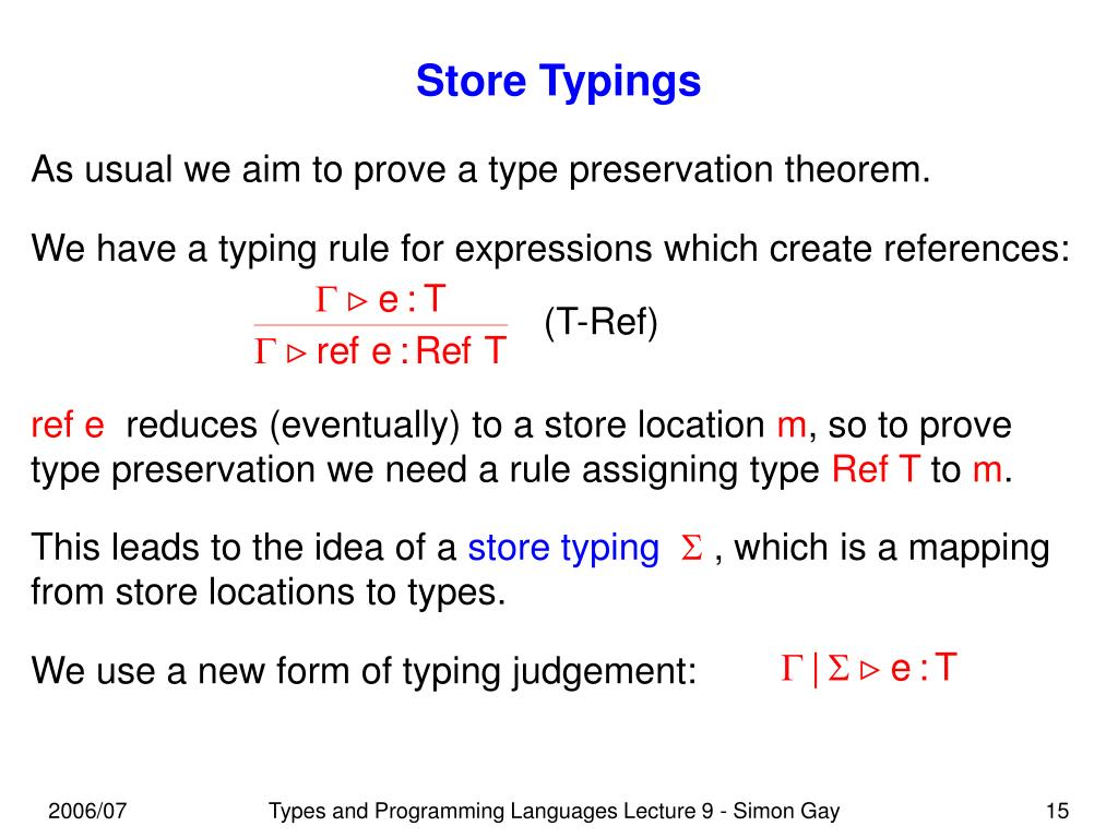 Store Typings