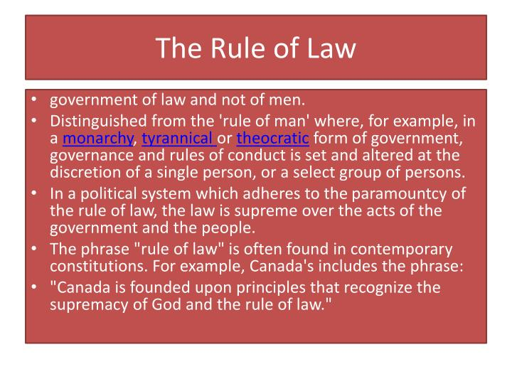 The rule of law2