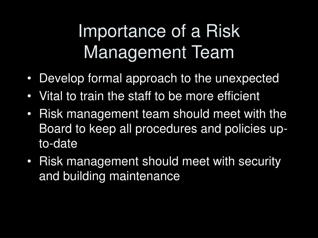 Importance of a Risk Management Team