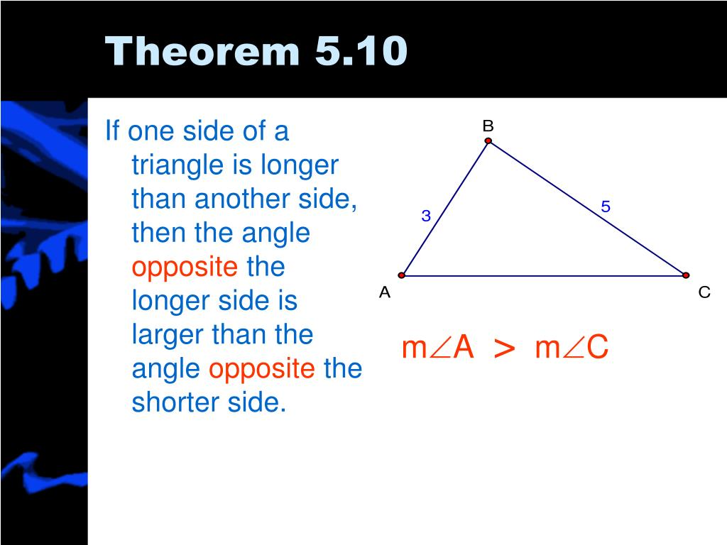 If one side of a triangle is longer than another side, then the angle