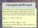 convergent and divergent
