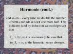 harmonic cont