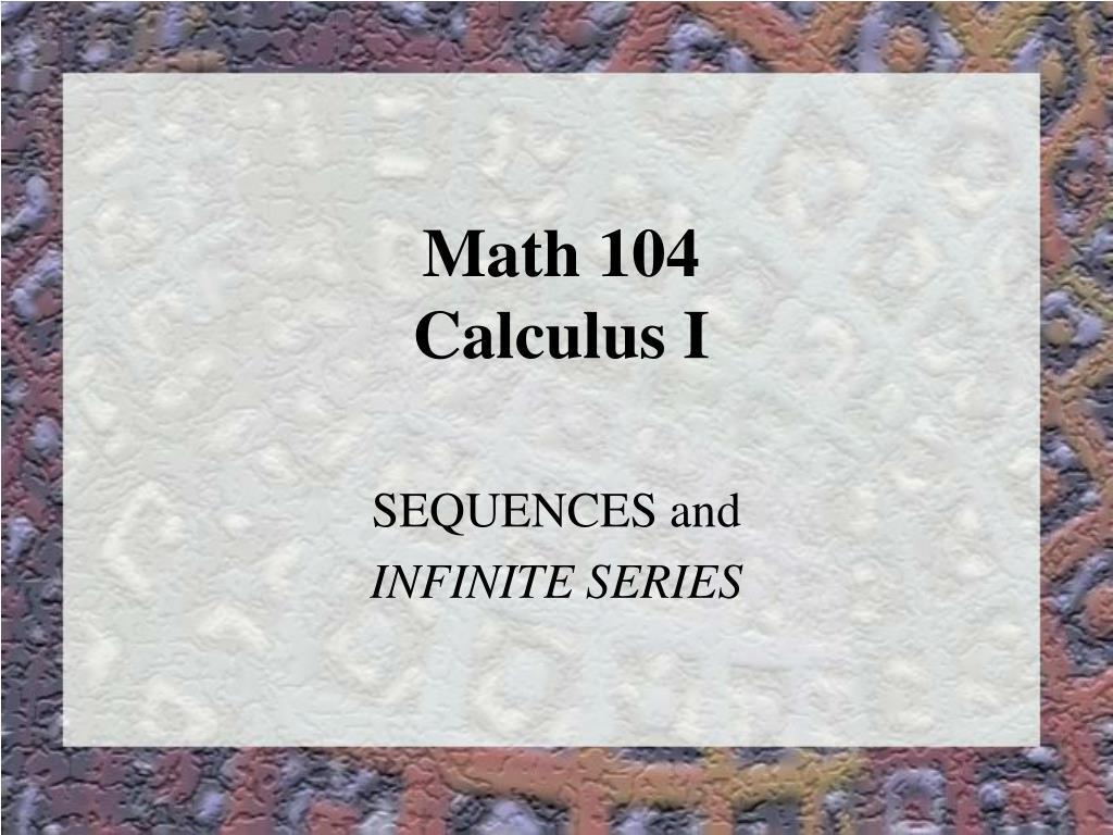 math 104 calculus i l.