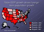state gdp growth drives foreign born population growth