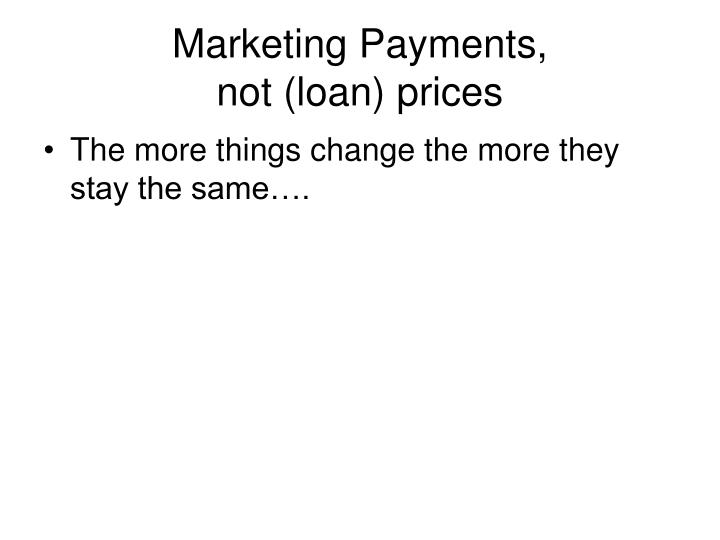 Marketing Payments,