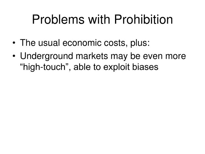 Problems with Prohibition