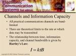 channels and information capacity