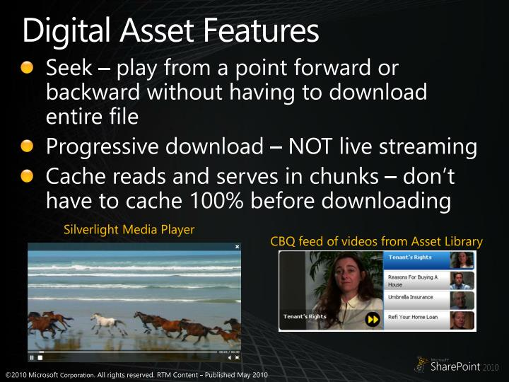 Digital Asset Features