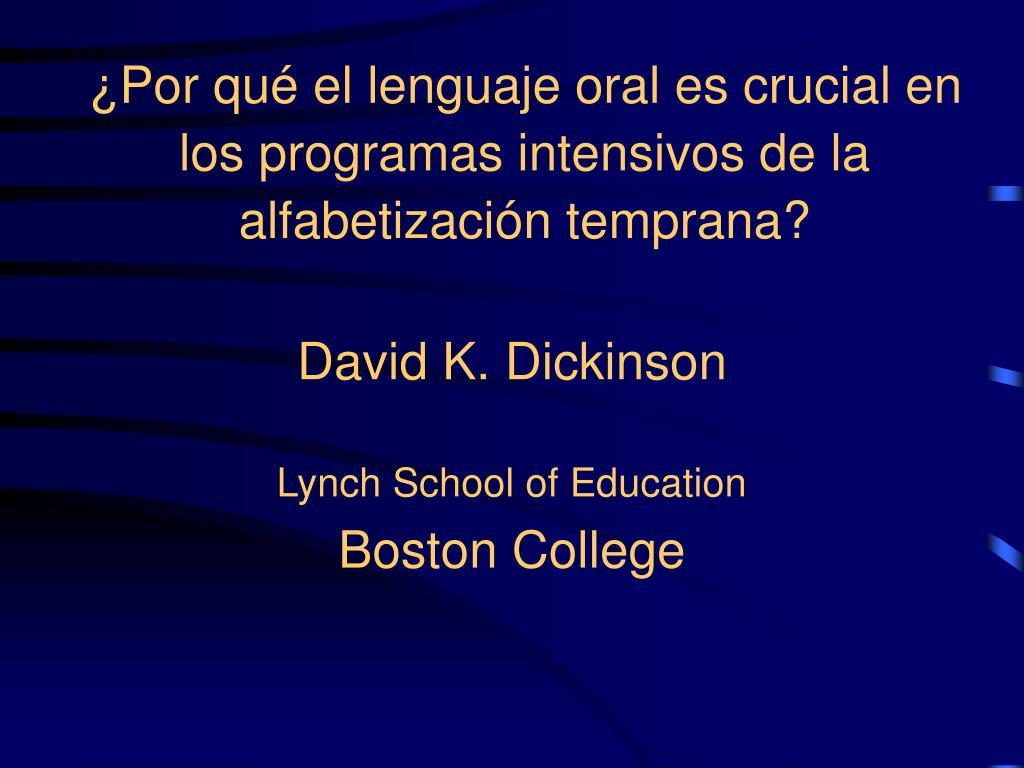 por qu el lenguaje oral es crucial en los programas intensivos de la alfabetizaci n temprana l.
