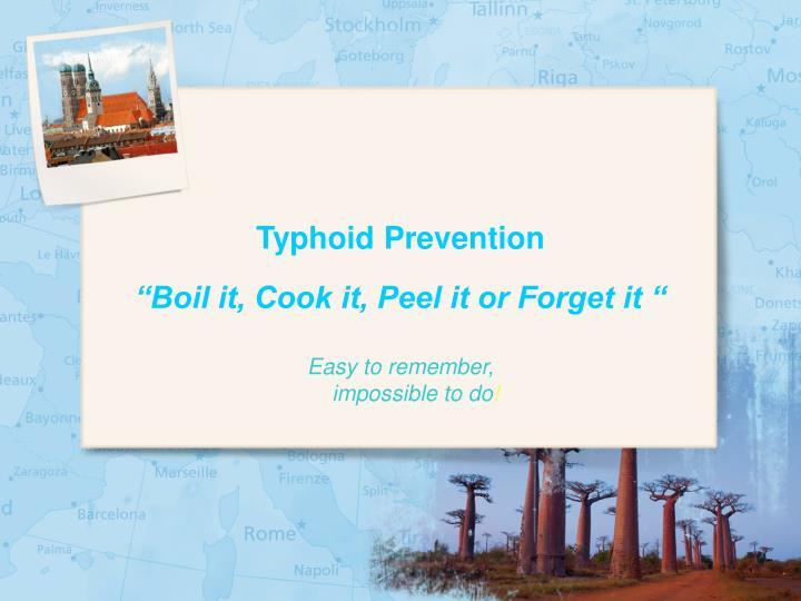 Typhoid Prevention