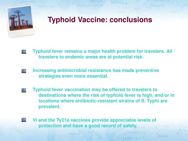 Typhoid Vaccine: conclusions
