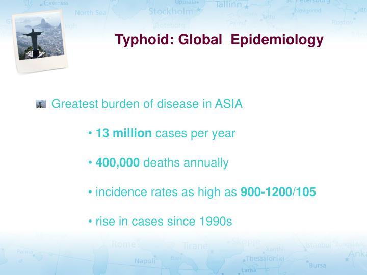 Typhoid: Global  Epidemiology