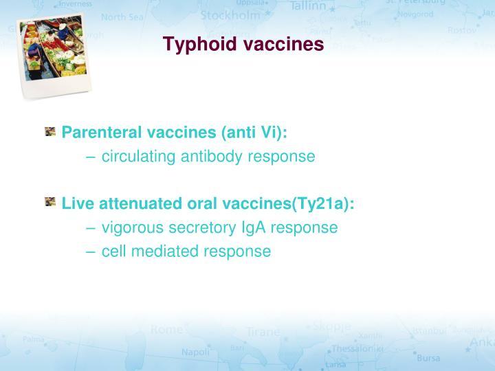 Typhoid vaccines