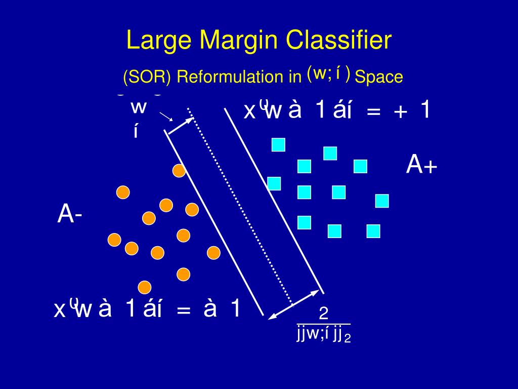 Large Margin Classifier