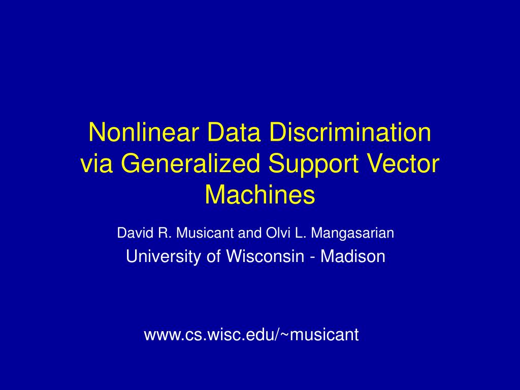 Nonlinear Data Discrimination