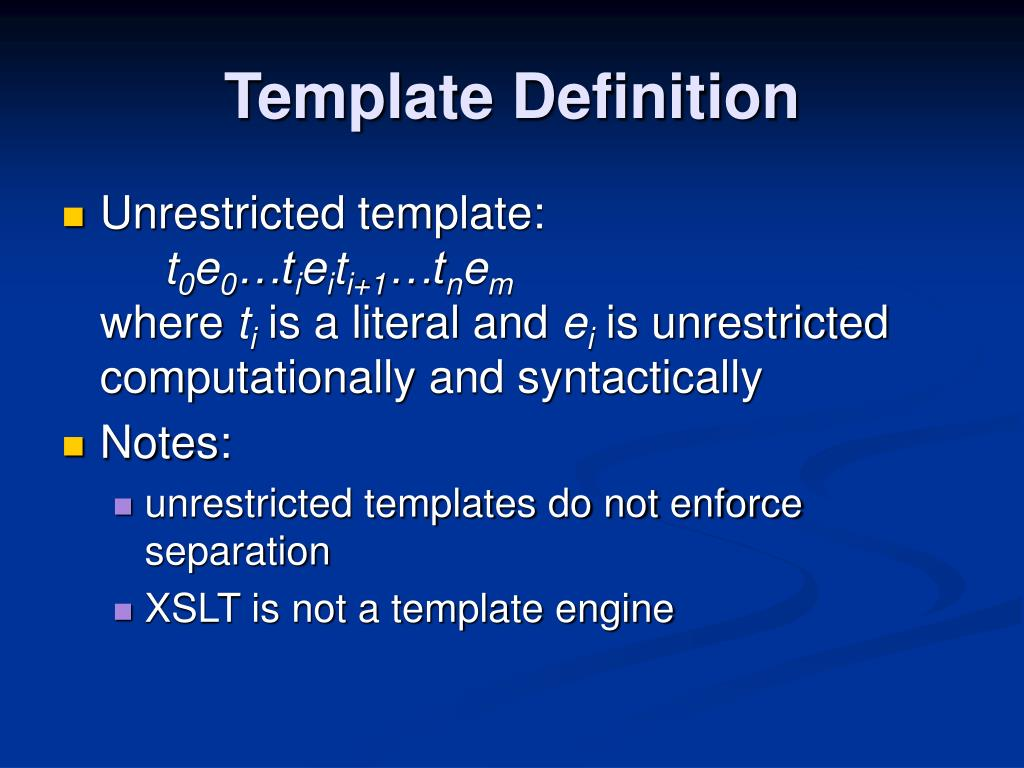 Template Definition