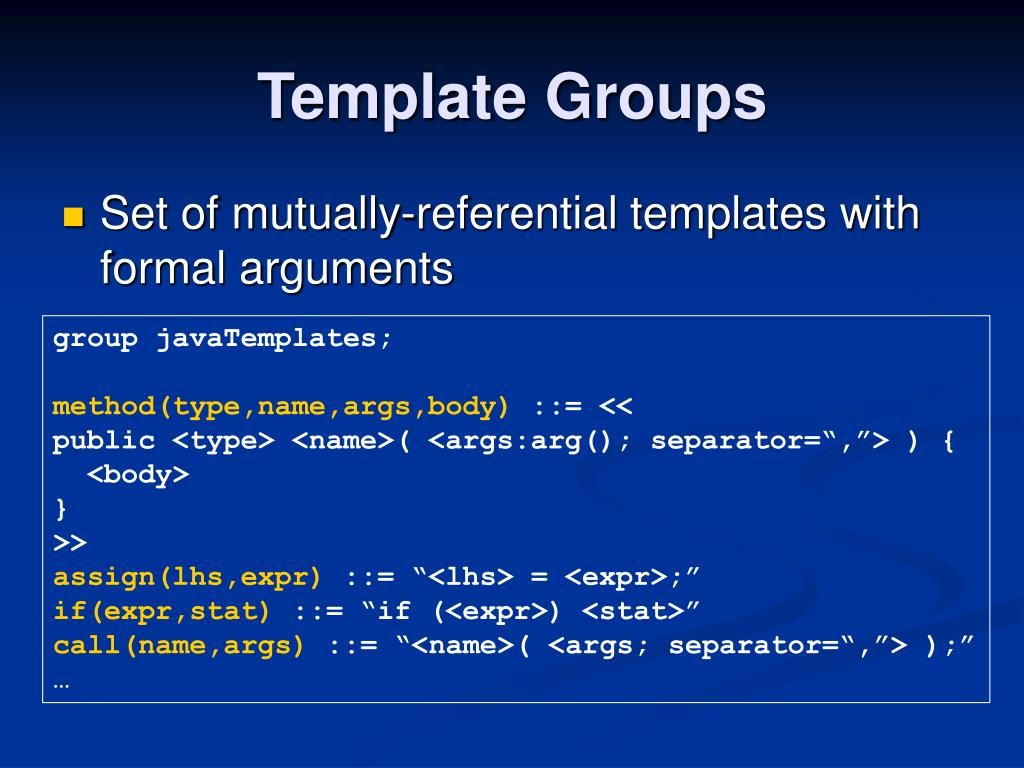 Template Groups