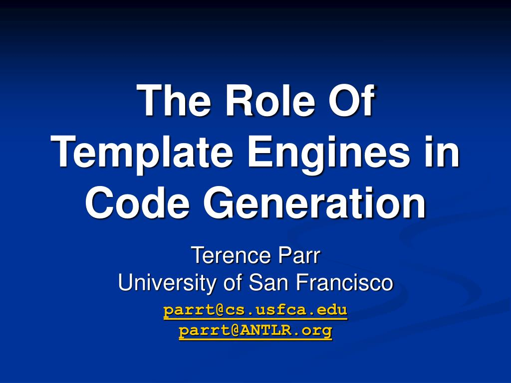 the role of template engines in code generation l.
