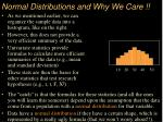 normal distributions and why we care