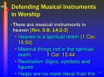 defending musical instruments in worship18