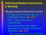 defending musical instruments in worship19