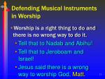 defending musical instruments in worship21
